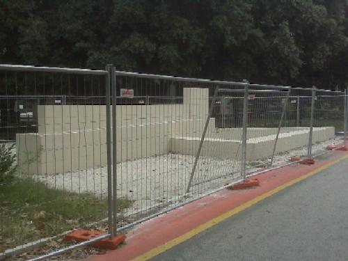 Fontana in costruzione